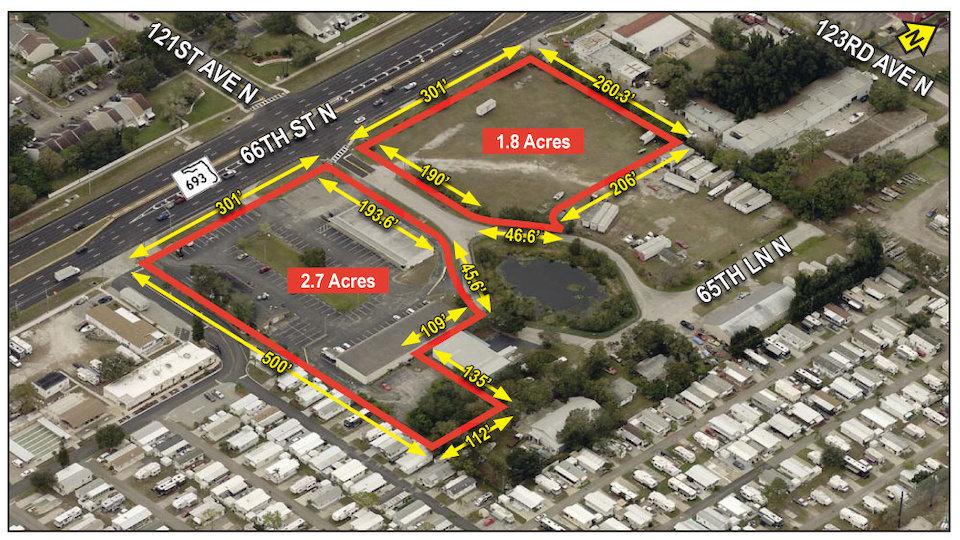 FOR SALE – Shopping Center – Pine Lake Land and Center 12001-12061 66th Street N., Largo, FL 33773