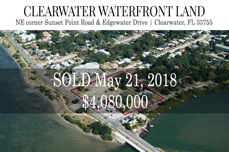 SOLD – 20180521 – Vacant Land – NE Corner Sunset Point Rd and Edgewater Dr Clearwater Fl 33755