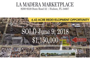 SOLD – 20180609 – Vacant Land – 8200-8228 State Road 52, Hudson, FL