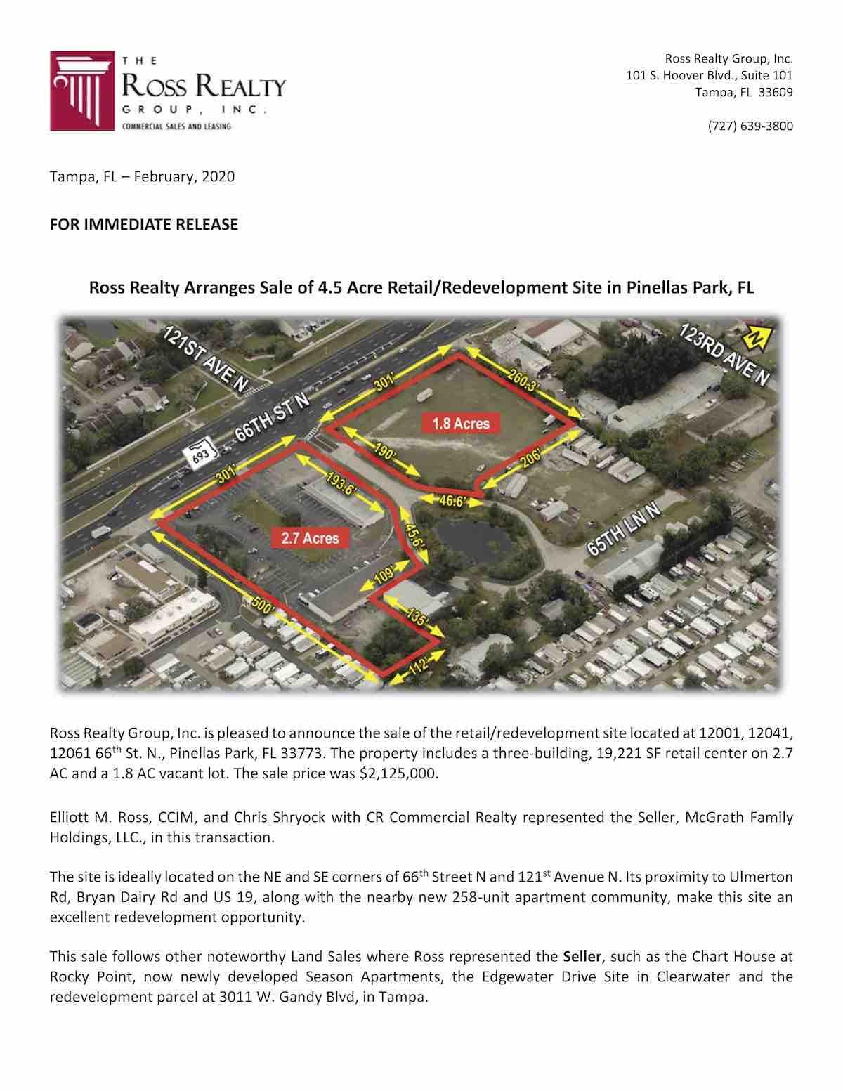 Pine Lake Press Release 2-20 P1
