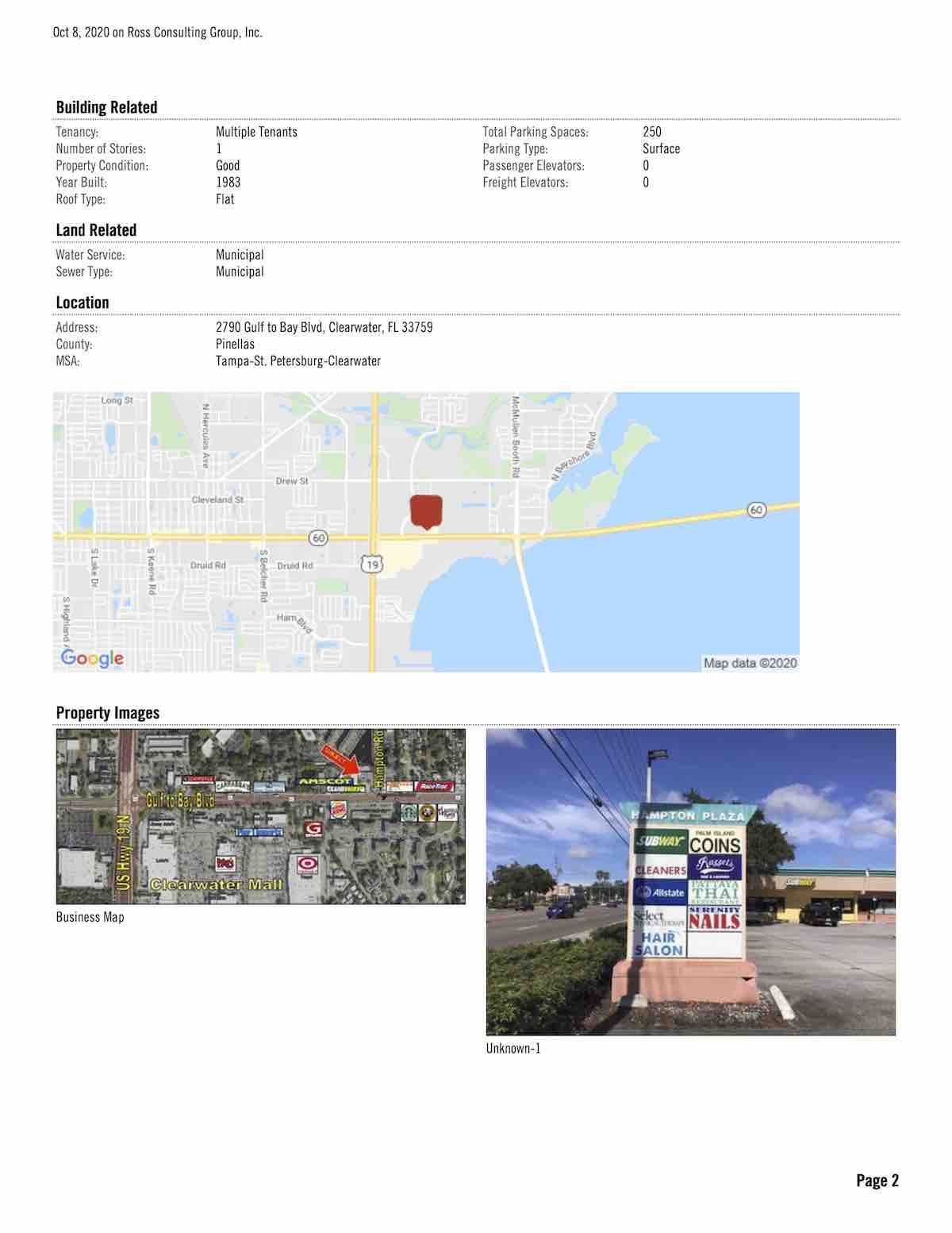 FOR LEASE - Hampton Plaza - 2790 Gulf to Bay Blvd, Clearwater, FL 33759 P2