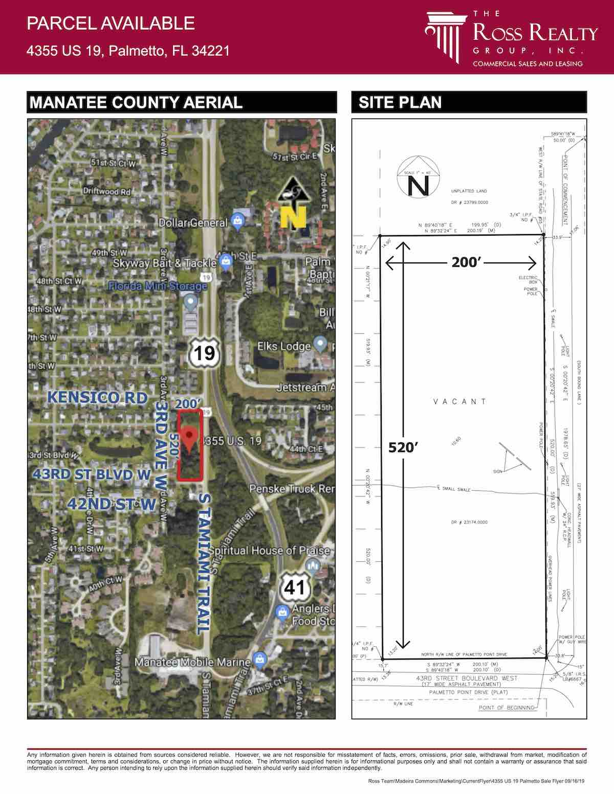 FOR SALE - Neighborhood Commercial or Multi-Family Site - Parcel Available - 4355 US 19, Palmetto, FL 34221 P2