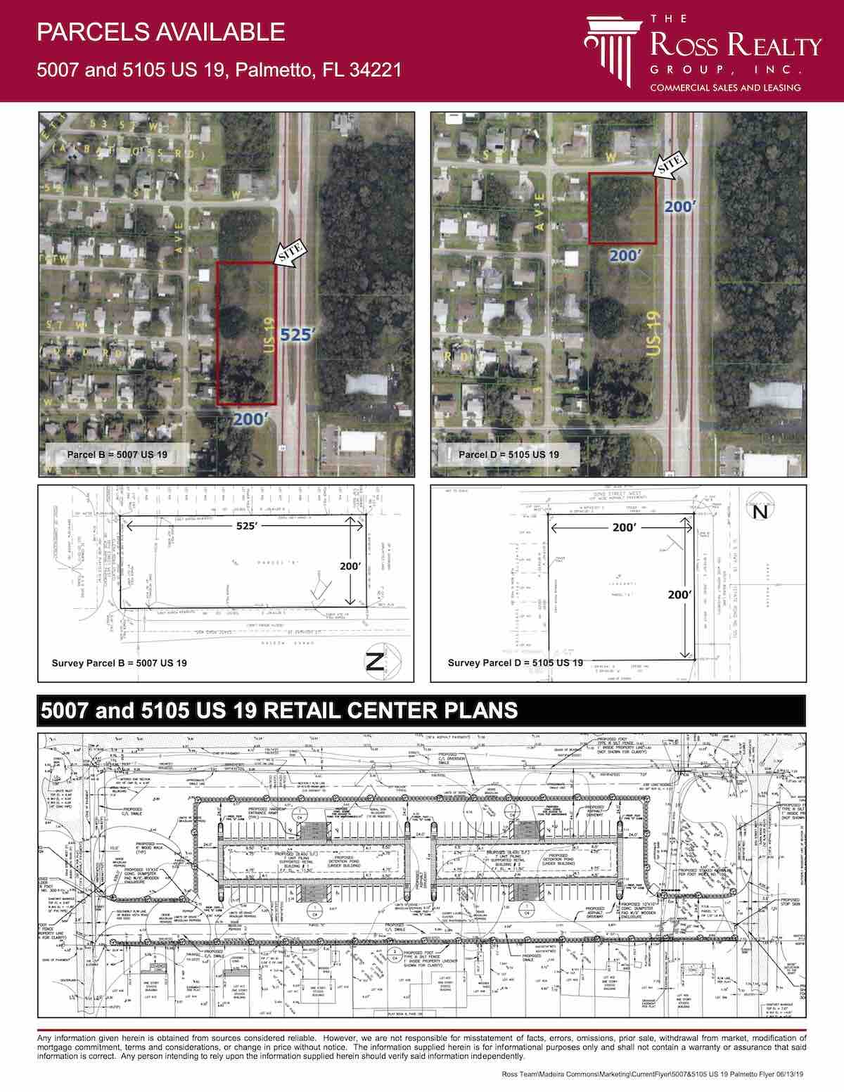 FOR SALE - Retail Center Site - Parcels Available - 5007 and 5105 US 19, Palmetto, FL 34221 P2