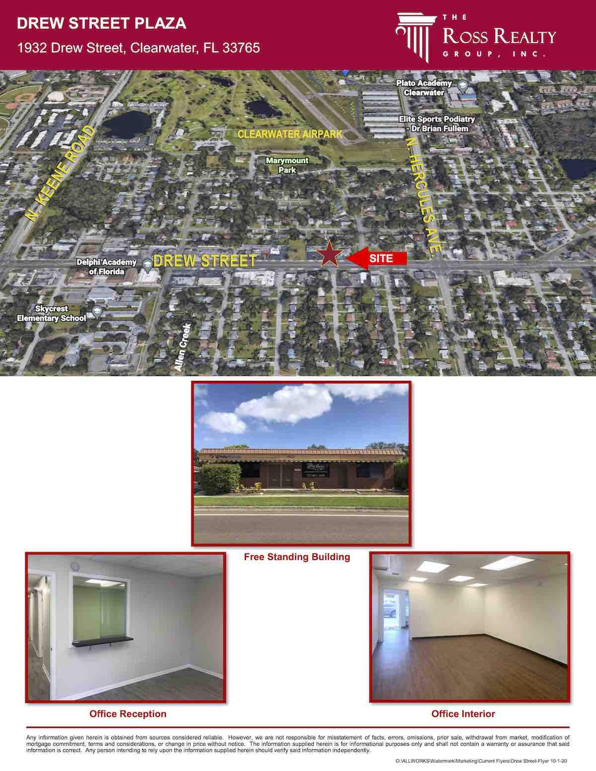 Tampa Commercial Real Estate - FOR SALE - Retail - Office Buildings - Drew Street Plaza - 1932 Drew Street, Clearwater, FL 33765 P2