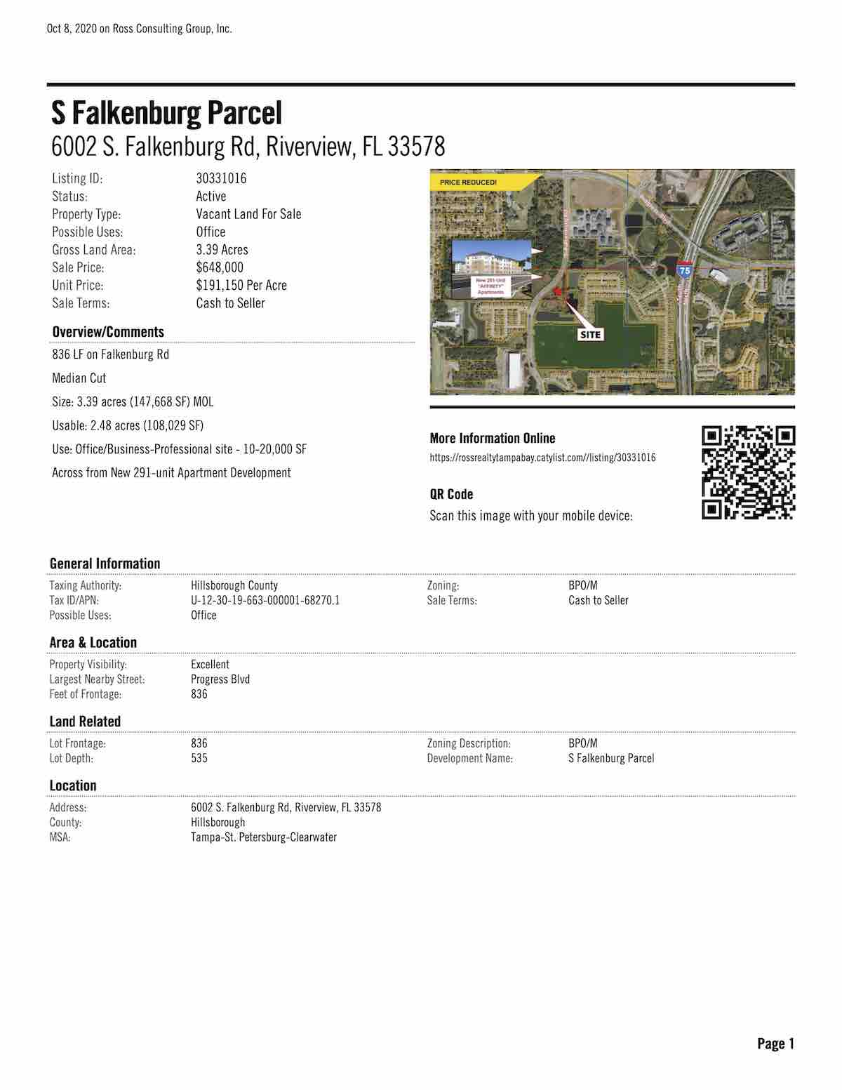 FOR SALE - S Falkenburg Parcel - 6002 S. Falkenburg Rd, Riverview, FL 33578 P2