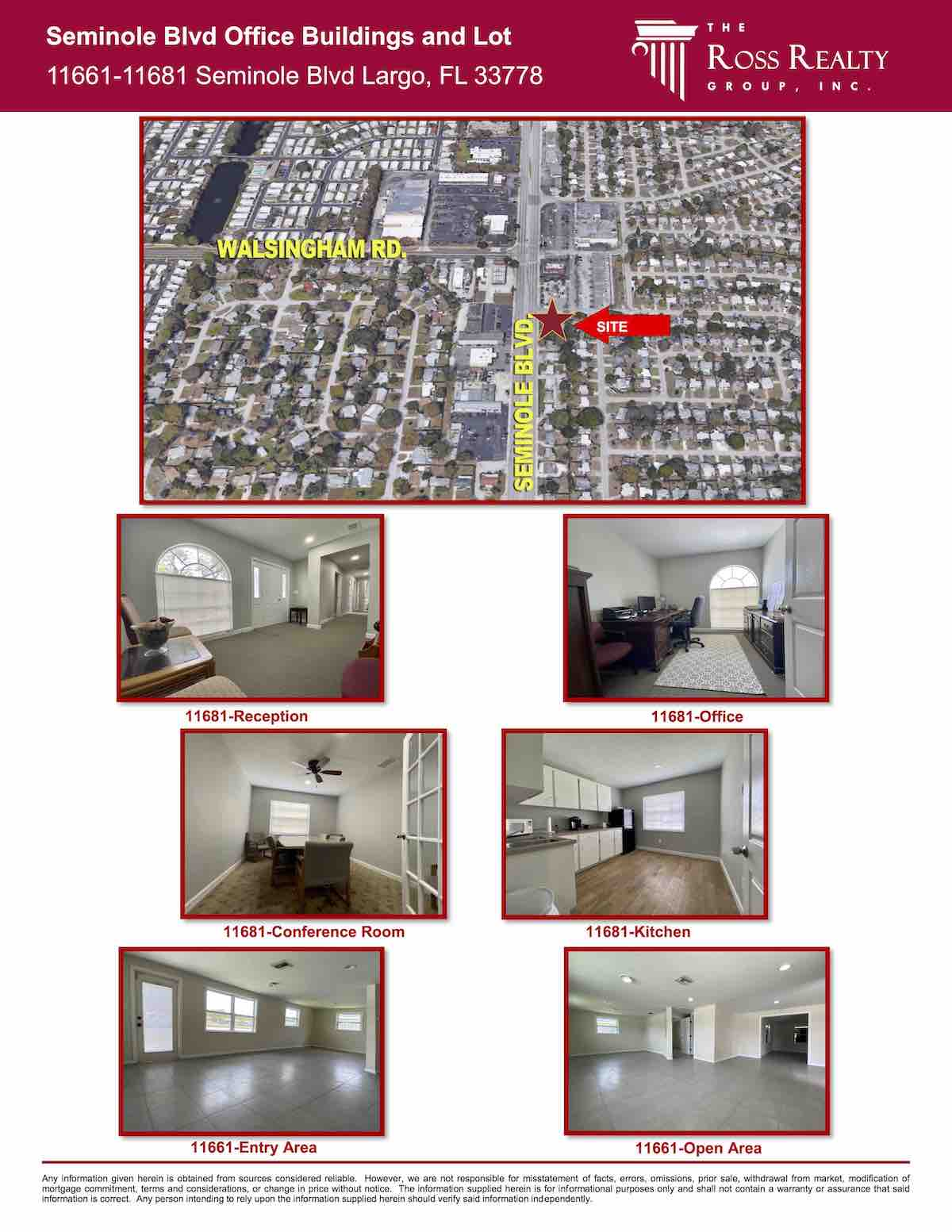 Tampa Commercial Real Estate - FOR SALE - Seminole Blvd Office Buildings and Lot - 11661-11681 Seminole Blvd Largo, FL 33778 P2