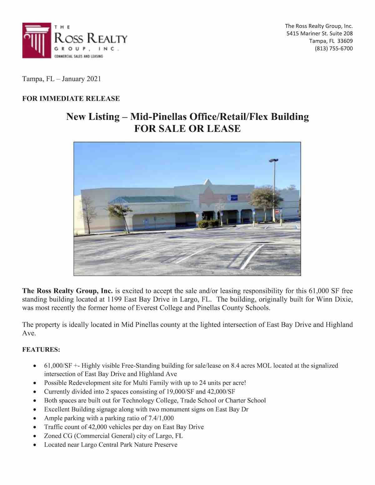 Tampa Commercial Real Estate - RRG-NewListingPR - 1199 East Bay Drive in Largo, FL 1-21 P1